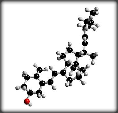 Vitamin D molecule. Flickr photo by WhySad